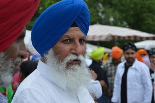 Sikh man at Vaisakhi Festival / 2018.